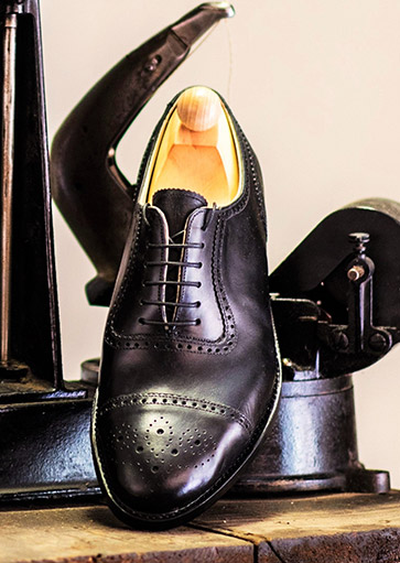 Kézzel varrott fekete Oxford Manchaster modell, Fabula bespoke shoes